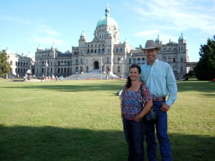 My husband and I at BC Beef Day in Victoria.